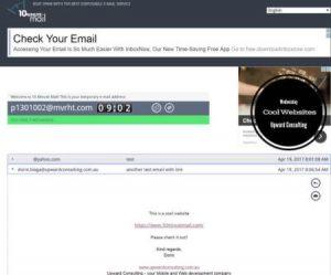 10minutesmail website