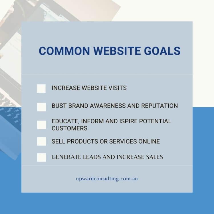 Common website Goals